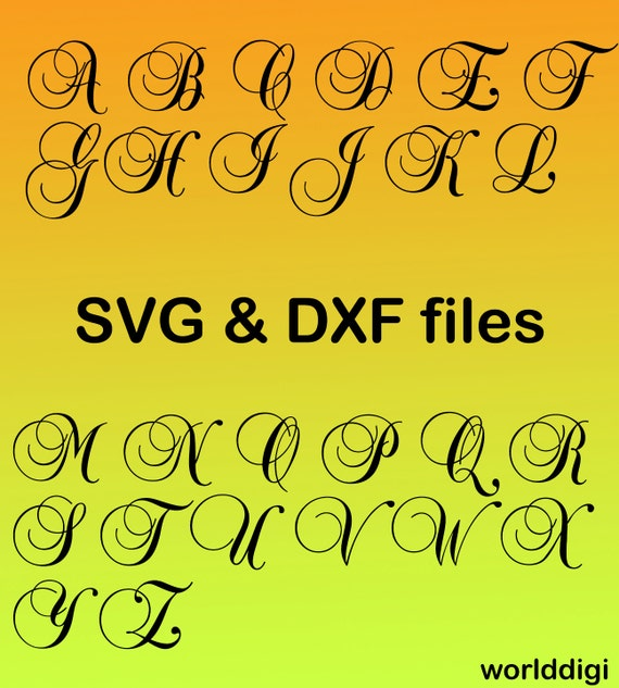 Download A-Z Letters Alphabet Font , Cutting Files for Silhouette ...