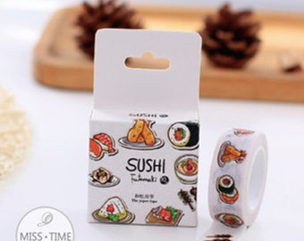 Washi Tape, Masking Tape, Planner Stickers - sushi