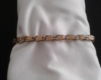 Gold Filled Heart Charm Bracelet