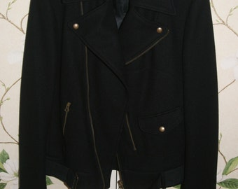 lady blue jacket