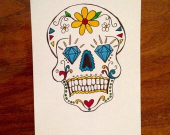 Sugar Skull 5x7 #4