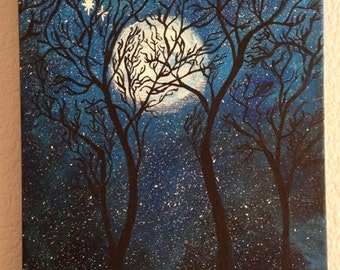 Starry Tree Painting