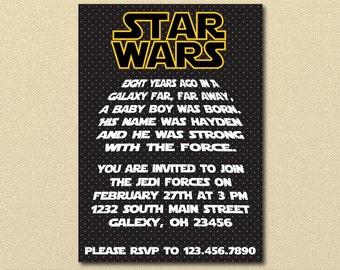 Starwars invitation Etsy