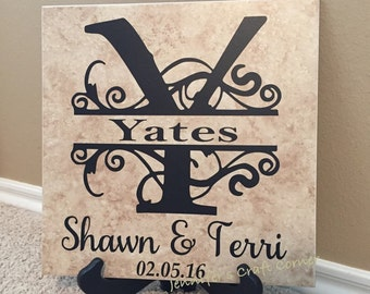 Personalized Gift, Gift for wife, anniversary gift,  Family Name Sign, Established Sign, Family Name, Name Sign, Name Plate, Last Name Sign