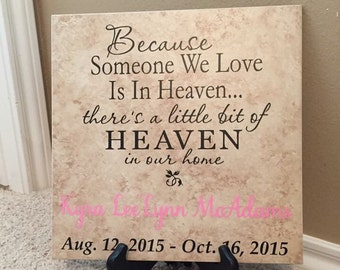 Name Tile, Remembrance Tile, Remembrance Gift, Miscarriage Remembrance, Remembrance, Loss of Mother, Loss of Baby, Baby loss, Loss of Life