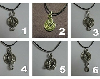 Pendant man or woman pewter on waxed cotton cord