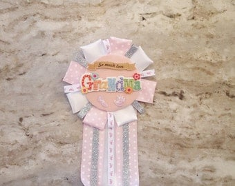 Baby Shower Corsage, Grandma Corsage, Its a Girl Corsage, Mom to be Pin, Dad to be Pin, Grandma To Be Pin, Baby Shower Capia, Capia Pin