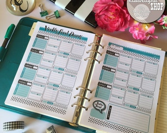 "Printable ""Weekly Food Diary"" A5 size 148x210mm (print double sided) , INSTANT DOWNLOAD"