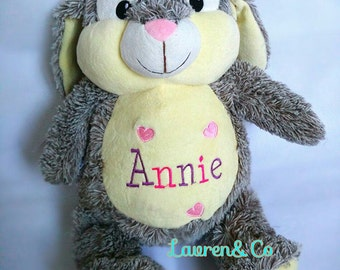 Personalised bunny rabbit baby toy
