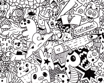 Coloring Page Doodle #2