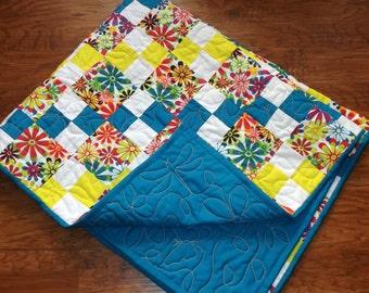 Flower quilt or blanket