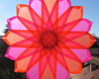Window mandala, window star, waldorf star, paper art, type FOGLA