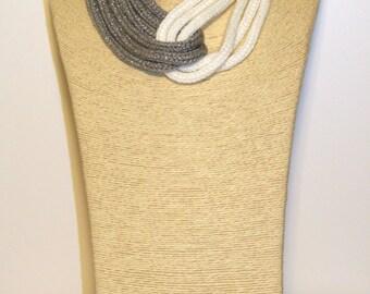 Scarf 2 Color Necklace
