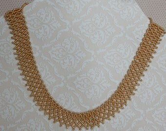 Gold and Silver seed bead necklace