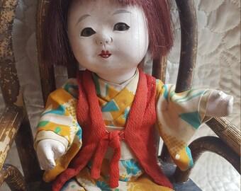 1930's Sweet Vintage Japanese Doll