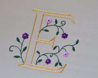 Embroidered Illuminated Letter Kits - All letters available