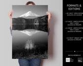 Fine Art Photography, Nature Photography, Japan Images, Black and White, Reflection, Landscape, Fuji, Peaceful, Mount Fuji