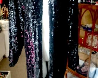 Vintage Full Length Sequin Jacket