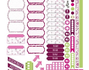 Plum Passion Weekly Spread Planner Stickers for Passion Planner