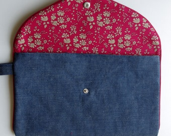 Bag pouch red jean