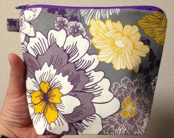 Cute floral cosmetic makeup bag