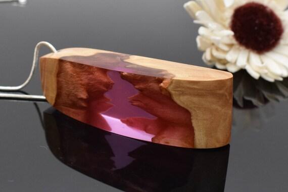 Collier bois, résine époxy, collier Bohème, cadeau Unique, bijoux résine, bijoux bois, cadeau pour maman, bijou, unique en son genre en résine