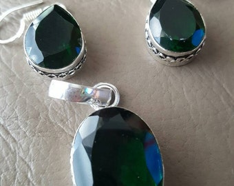 Quartz Pendant and Earring set! REDUCED!!!
