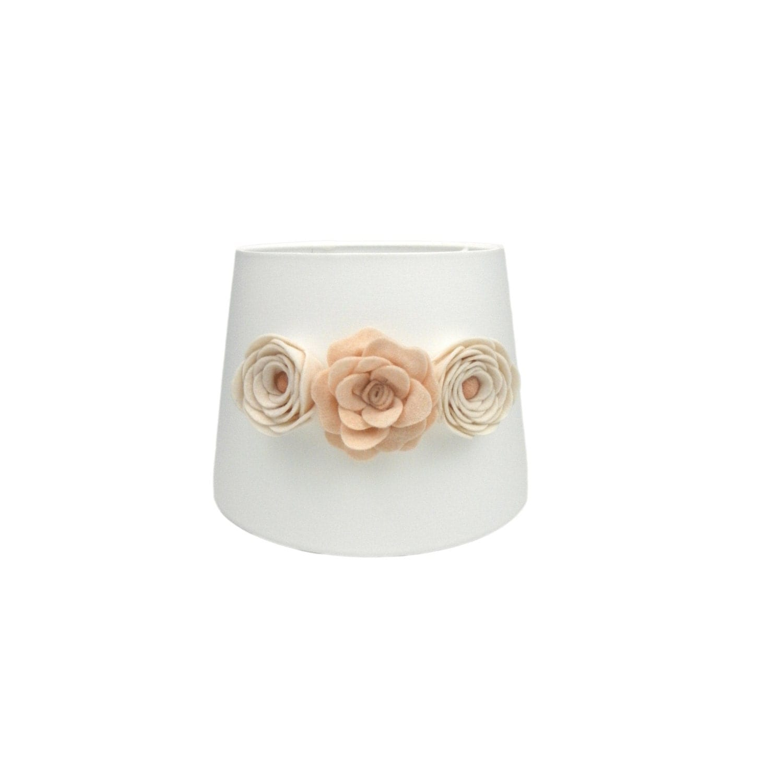 white lamp shade rose lamp shade flower lamp drum lamp. Black Bedroom Furniture Sets. Home Design Ideas