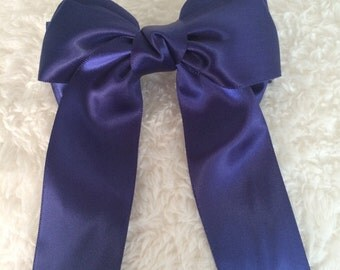 Lovely Hair Bows High Quality Navy No.008
