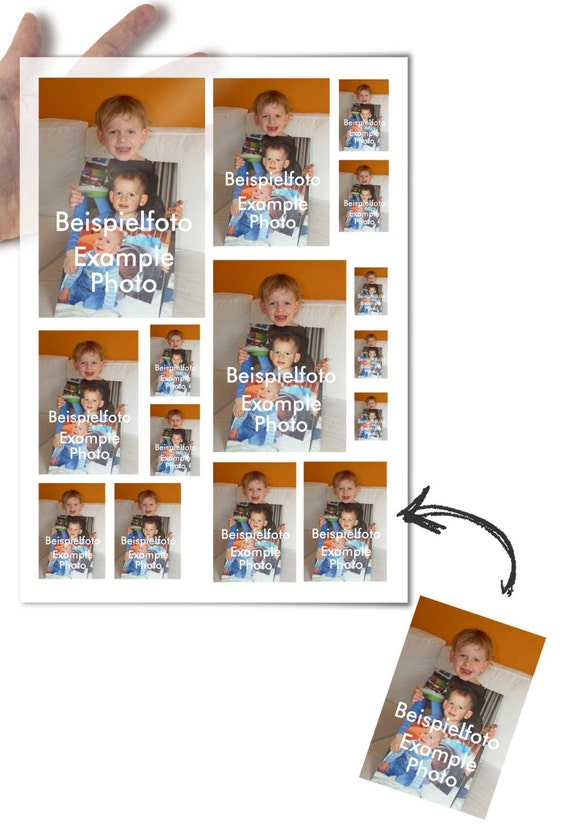 Decoupage Paper with your own photo in various sizes • for mod podge decopatch scrapbooking