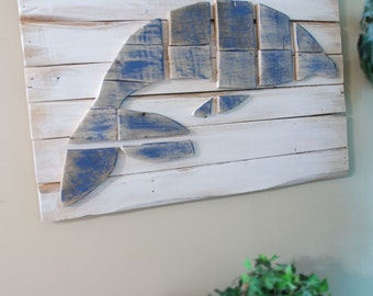 Wood on Wood Dolphin in the Ocean Wood Wall Art