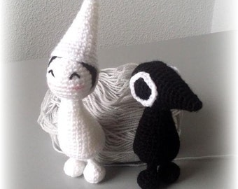 Crochet patterns: amigurumi Princess Ida and Crow Man from Monument Valley
