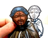 Harriet Tubman Coloring Paper Doll Set - Printable Toy
