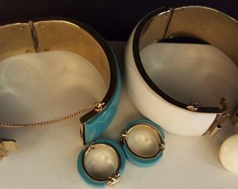 Vintage Bangle Bracelets and Earrings