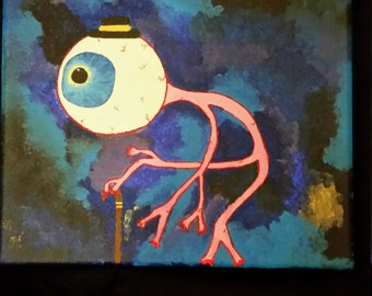 Old man eye canvas painting