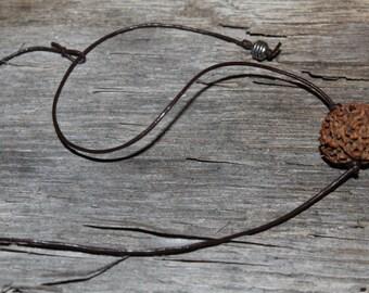 Brown Leather choker