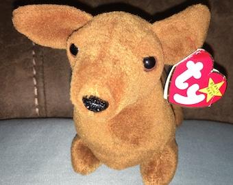 TY beanie baby Weenie the dachshund (weiner dog)