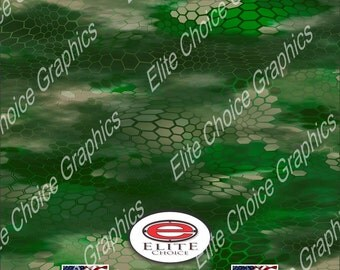 "Chameleon Hex Green 15""x52"" or 24""x52"" Truck/Pattern Print Tree Real Camouflage Sticker Roll or Sheet"