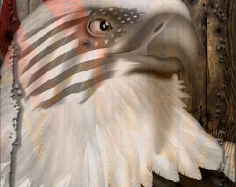 Ghost Eagle American FLag Wood Cornhole Wrap Bag Toss Decal Baggo Skin Sticker Wraps