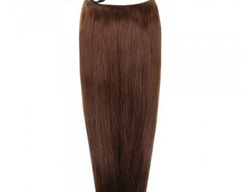 """Halo Hair Extensions 100% Human Remy natural hair. 18"""". 100 grms. Colour #4"""