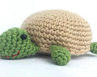 Handmade Stuffed Turtle Toy