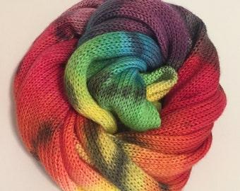 Hand-painted Sock Blank - Confused Rainbow, Gradient