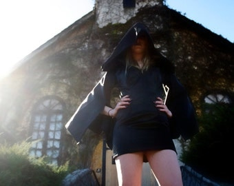 custom gothic punk hooded dress made to fit