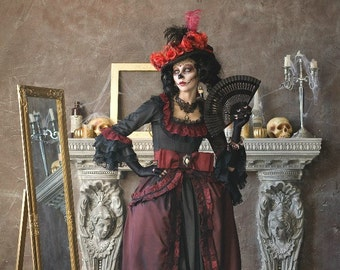 Gothic dress, gothic wedding dress, gothic clothing, gothic rococo dress, goth dress, gothic corset dress