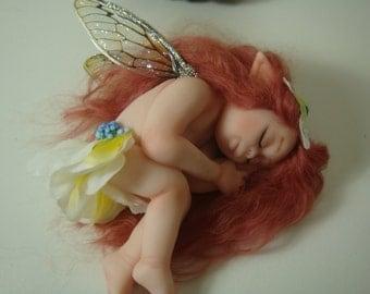 OOAK Fairy sculpture,polymer clay miniature artdoll,dollhouse,collectible,handmade figurine.