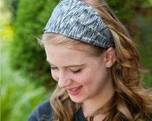Girls Sport Headband Black Stretchy Head Wrap Fabric Headwrap Bad Hair Day Head Scarf for Girls Black Workout Headscarf (#1209)