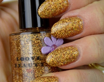 Rose And Gold- Rose Gold Glitter Nail Polish