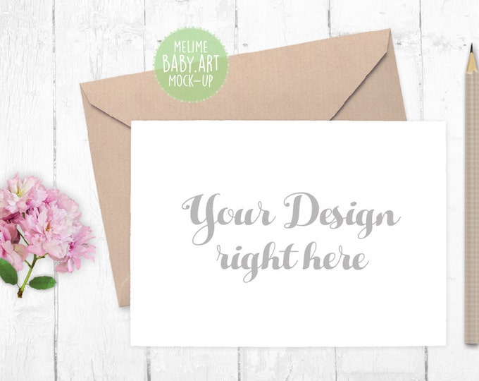 5x7 Invitations Mockup, Styled Photography Mock Up, Cards and Envelope Mockup, Blossom Photography, 5x7 Card Invite Mockup (5x7.White)