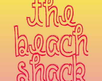 The Beach Shack Print