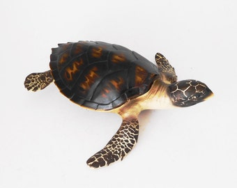 Faux Sea Turtle, Coastal Decor, Marine Creature, Beach Decor, Ocean Animal, Coast Decor, Sea Turtle, Marine Decor, Hamptons, Ocean Decor,